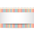 Row of color pencils vector image vector image