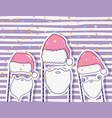 santa claus hat and beard costume vector image