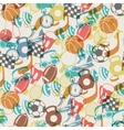 seamless pattern sport icons vector image vector image