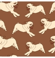 Seamless pattern with hand drawn pug puppies vector image vector image