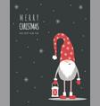 season greetings christmas scandinavian card vector image vector image