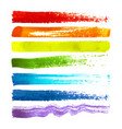 set colorful brush strokes vector image vector image