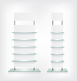 Shop glass shelves white vector image vector image