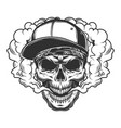 skull vaper concept vector image vector image