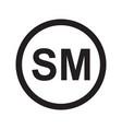 smartmark icon on white background flat style vector image vector image