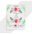 stylish flower decorative wedding card template vector image vector image