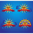summer sun icons with banner eps10 vector image vector image