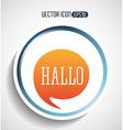 text balloon design vector image vector image
