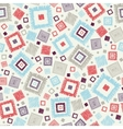 Textured geometric squares seamless pattern vector image vector image