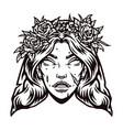 vintage concept dead bride head vector image