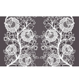 Wide seamless white lace ribbon with roses vector image vector image
