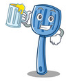 with juice spatula character cartoon style vector image vector image