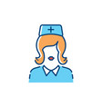 woman doctor icon nurse icons medical assistant vector image