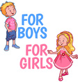 Boy and girl logo on a white background Tw vector image