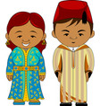 cheerful african couple from morocco vector image