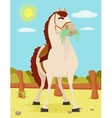 Horse in the Wild West vector image