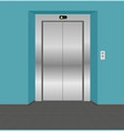 modern elevator with closed doors vector image