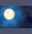 moon on night blue sky vector image