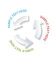 paper circle arrow shape vector image