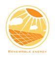 renewable energy solar energy vector image