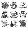 BBQ Grill Emblems Set vector image