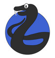 viper cartoon icon flat app vector image