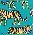 cute tiger cartoon roaring vector image