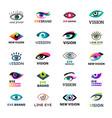 eye blinker business icon glimmer template logo vector image