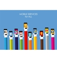 Mobile Services Flat Concept for Web Marketing vector image