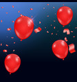 templates of a celebration of the red balloons vector image