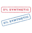 0 percent synthetic textile stamps vector image vector image