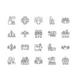 audience line icons signs set outline vector image vector image