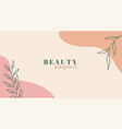 beauty background abstract trendy organic minimal vector image