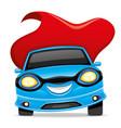 blue super car vector image vector image