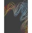 Bright futuristic wavy lines background vector image vector image
