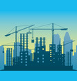building skyscrapers in the city vector image