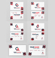 business card design set with ca and c company vector image vector image