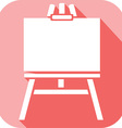 Canvas on an easel Icon vector image