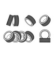 car tire fitting logo template for service vector image