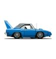 cartoon retro car vector image