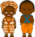 cheerful african couple vector image vector image