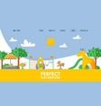 children playground website vector image vector image