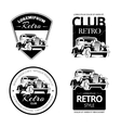Classic muscle car labels emblems and vector image vector image