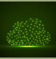 cloud glowing lines and dots abstract vector image vector image