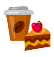 coffee and tart vector image vector image
