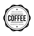 Coffee vintage stamp vector image vector image