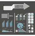 competitor analysis infographics blue and gray vector image vector image