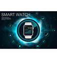 concept smart watches vector image