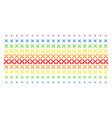 crossing swords shape halftone spectrum grid vector image vector image