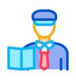 custom policeman icon outline vector image